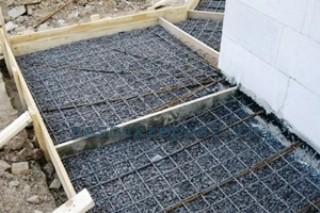 Армирование  бетонного слоя