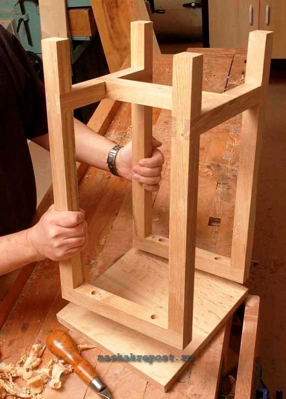 Как сделать табурет из дерева своими руками
