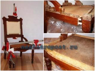 зачистка корпуса старого стула