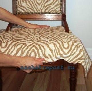укладка обтяжечной ткани