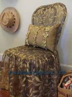 Чехлы на стулья могут быть раздельными или совмещенными. .  Раздельный вариант позволяет снимать чехол со спинки или...