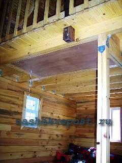 Чердачная лестница в закрытом состоянии