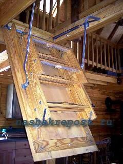 Чердачная раскладывающаяся лестница