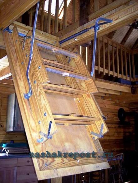 Лестницы чердачные как сделать