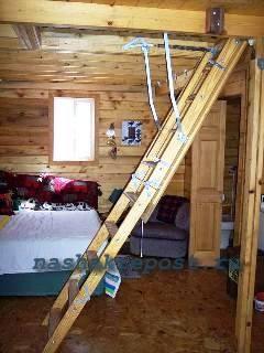 чердачная лестница в разложенном состоянии