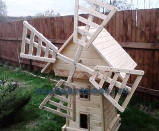 готовая декоративная мельница сделанная своими руками