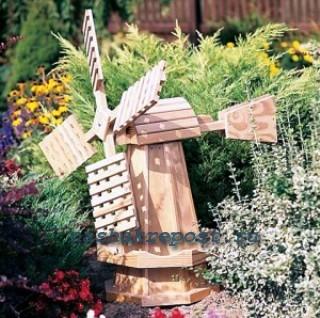 Самостоятельное изготовление декоративной мельницы для сада