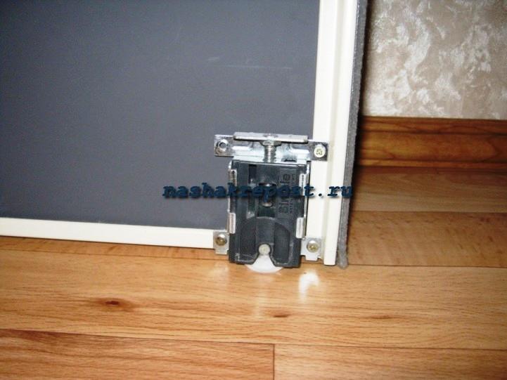Установка роликов на дверь своими руками 399