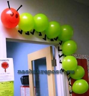 декоративная сороконошка из воздушных шаров своими руками
