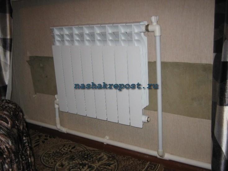 Установка радиаторов в частном доме своими руками 12