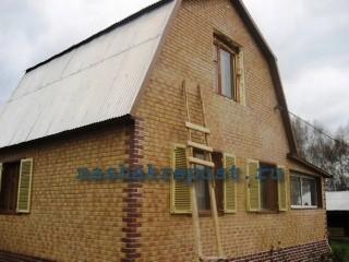 дом облицованный термопанелями с клинкерной плиткой