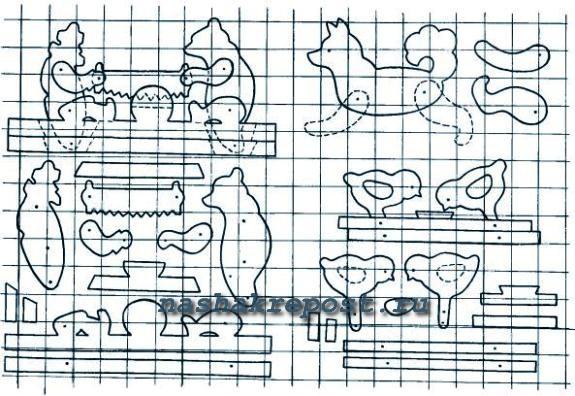 Схемы поделки из фанеры