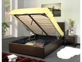обшитая кровать с подъемным механизмом