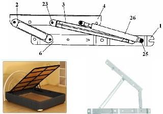 строение подъемного механизма для кровати