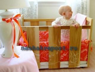 самодельная детская кроватка