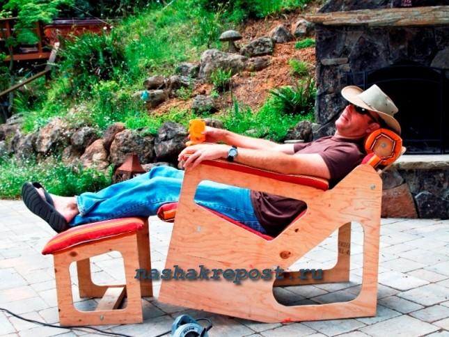 Кресло своими руками из фанеры