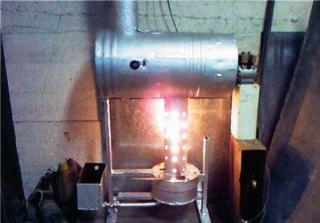 как работает печь на отработанном масле
