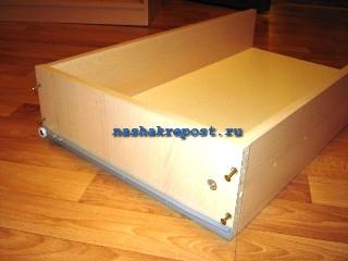 сборка ящика комода