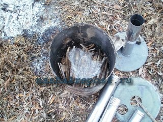 закладка дров в печь ступова