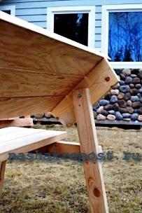 фиксация спинки скамейки трансформера