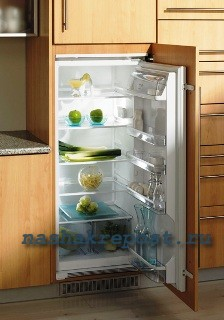 как встроить холодильник
