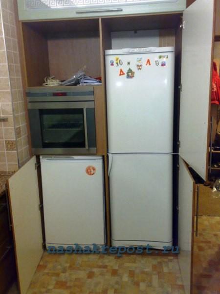 Как встроить холодильник в кухонный гарнитур своими руками