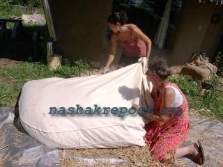 набивка матраса сеном