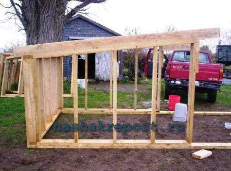 Строим сарай для дачи своими