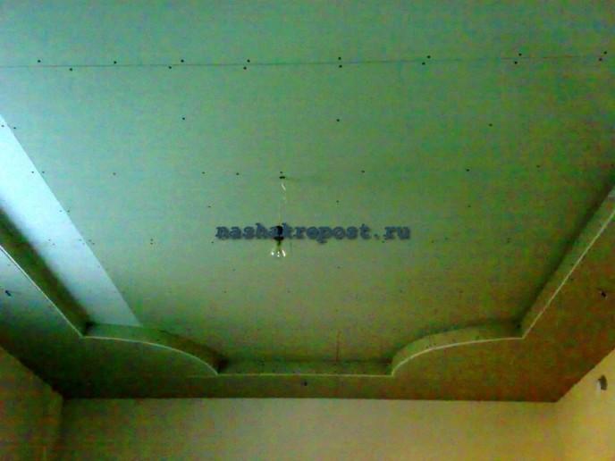 Потолок гипсокартон двухуровневый своими руками