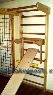 простая скамья для пресса на швецкой стенке
