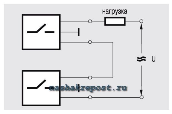 Схемы подключения выключателя, розеток и ламп.