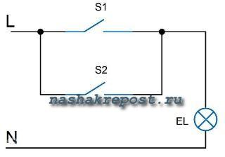 Схемы подключения выключателя, розеток и ламп