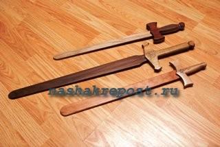 Как сделать деревянный меч своими руками в домашних условиях