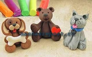 животные из глины  сделанные своими руками
