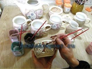 роспись изделий из глины