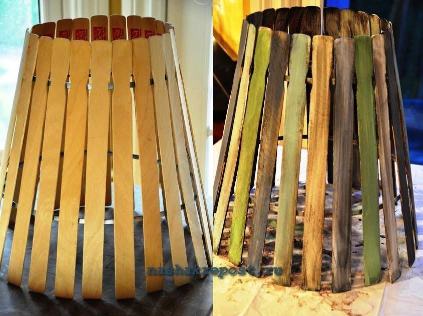 Деревянные абажуры своими руками