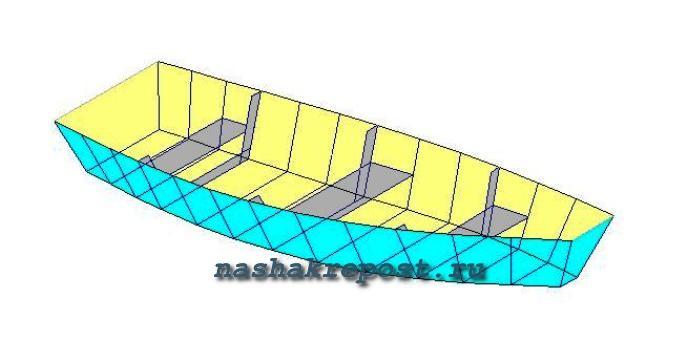 Схема деревянной лодки