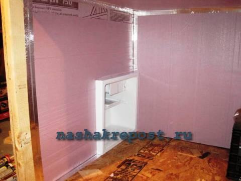 Теплоизоляция холодильной камеры своими руками 72