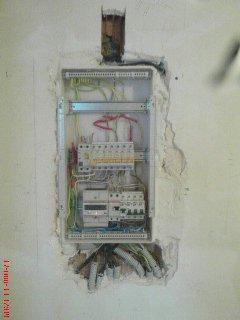 электрощиток, утопленный в стену
