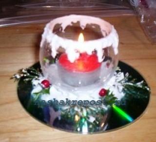 свеча на компакт диске