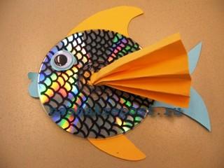 рыбка из компакт диска