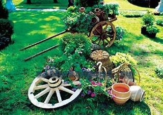 украшение садового участка