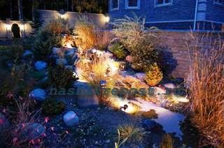 Декоративная подсветка сада