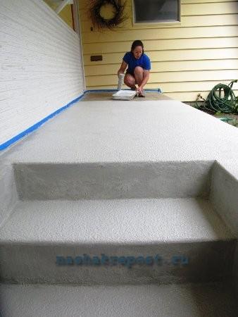 покраска бетонного крыльца
