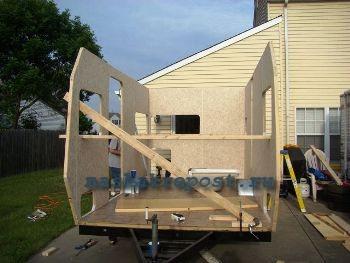 Постройка вагончика на колесах