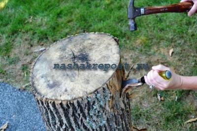 Стол из бревна— самостоятельное изготовление | подготовка материала, сборка конструкции