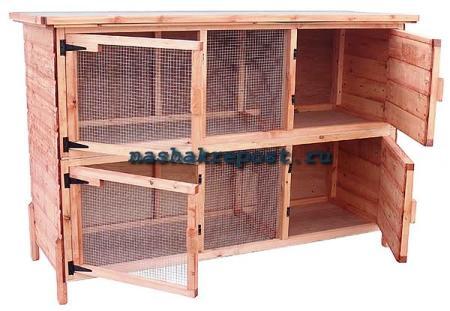 Поэтапная инструкция строительства клетки для кроликов своими руками