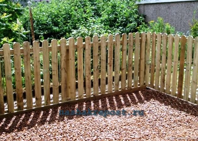 Забор для палисадника своими руками фото