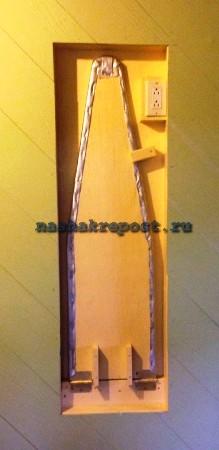 встроенная гладильная доска сделанная своими руками
