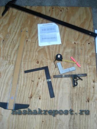 Стол для пикника из фанеры своими руками | разметка материала, сборка